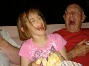 laughing with Grandpa!