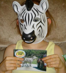Zebra mask for the Zebra lover!